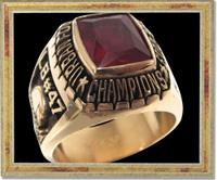 アメフト:サンダーバーズ2013年チャンピオンリング
